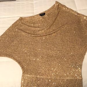Gold holiday top